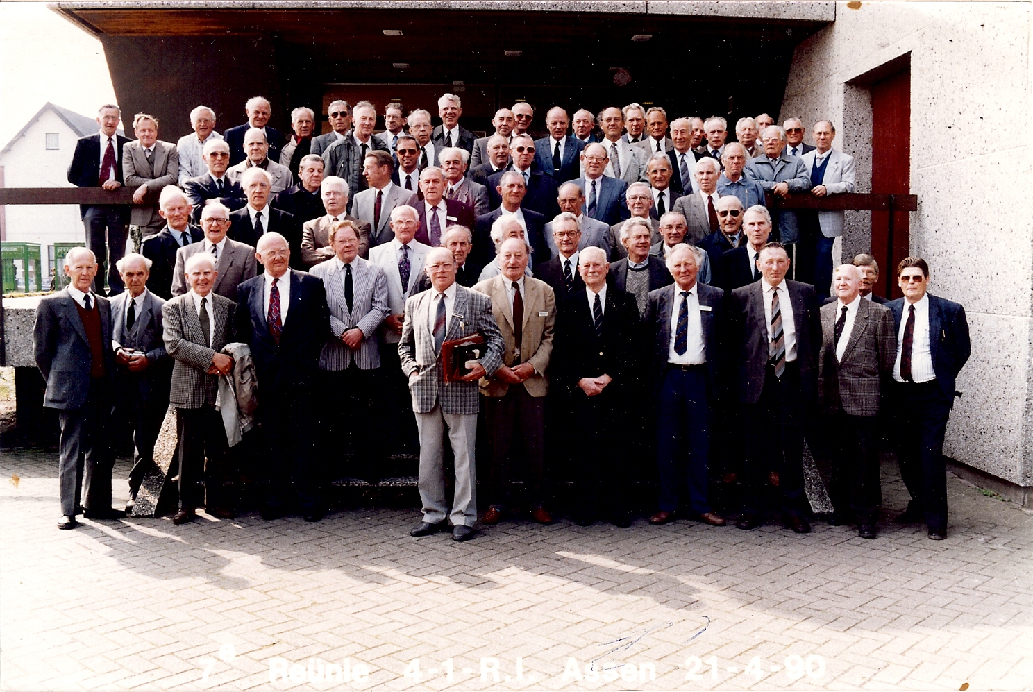 Genomen tijdens de reunie in 1990 te Assen